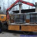 Отгрузка фильтров очистки поверхностного стока ФОПС®-МУ-2,0-1,2 при помощи автоманипулятора