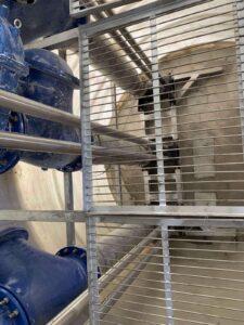 Канализационная насосная станция ЛотОС ливневых сточных вод производительностью 1638 м3/ч.